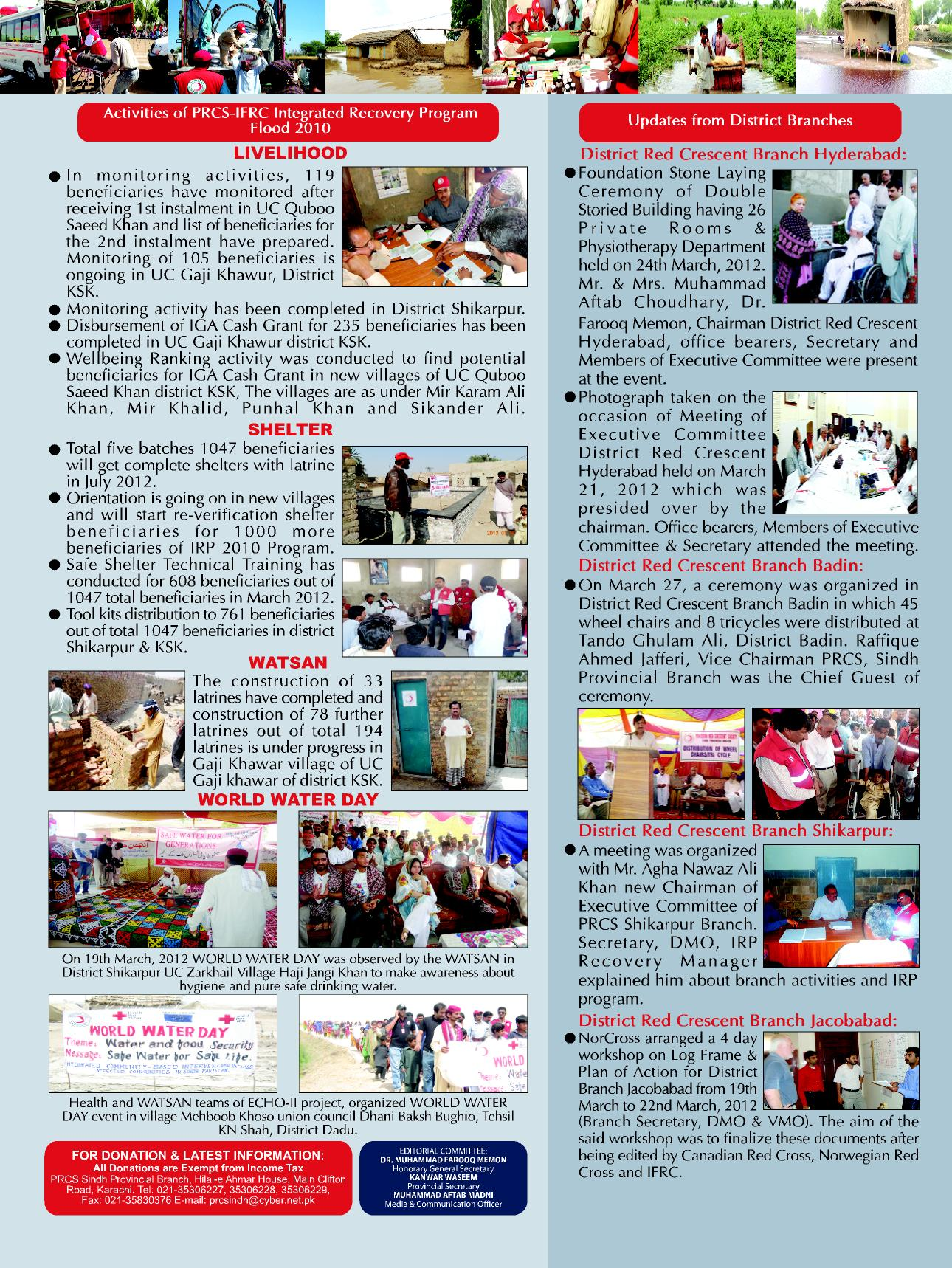 Monthly Newsletter « PRCS Sindh Provincial Branch